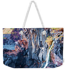The Wild Atlantic Cliffs Of Camara De Lobos On The Islandof Madeira Weekender Tote Bag