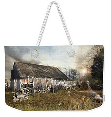 Weekender Tote Bag featuring the photograph The Wild Guests by Robin-lee Vieira