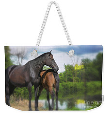 The Wild Horses Of La Chura Trail Weekender Tote Bag by Mary Lou Chmura