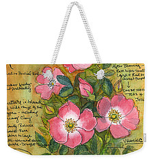 The Wild Rose Weekender Tote Bag