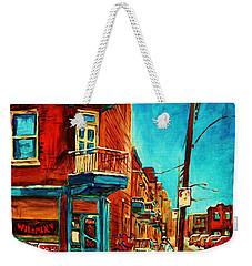 Weekender Tote Bag featuring the painting The Wilensky Doorway by Carole Spandau