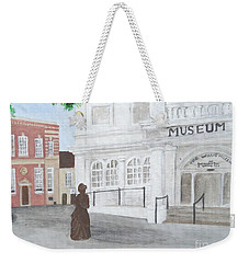 The Willis Museum Basingstoke With Jane Austen Statue Weekender Tote Bag