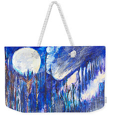 The Wind Blows A Kiss To The Moon Weekender Tote Bag by Seth Weaver