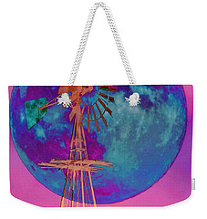 The Windmill And Moon In A Sherbet Sky Weekender Tote Bag by Toma Caul