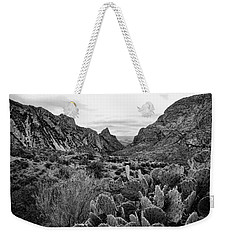 The Window 2 Black And White Weekender Tote Bag