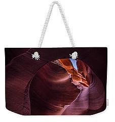 Weekender Tote Bag featuring the photograph The Window Of Peekaboo by Edgars Erglis