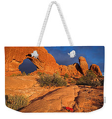 Weekender Tote Bag featuring the photograph The Window by Steve Stuller