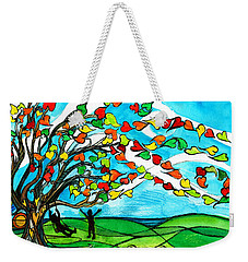 The Windy Tree Weekender Tote Bag by Genevieve Esson