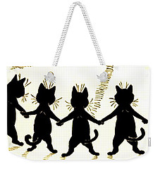 The Wink Six Black Pussy Cats Weekender Tote Bag