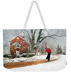 The Winter Cottage Weekender Tote Bag