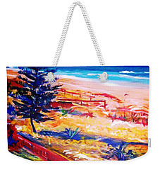 Weekender Tote Bag featuring the painting The Winter Dunes by Winsome Gunning