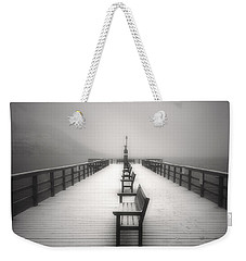 The Winter Pier Weekender Tote Bag by Tara Turner