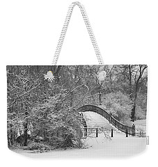The Winter White Wedding Bridge Weekender Tote Bag by Daniel Thompson