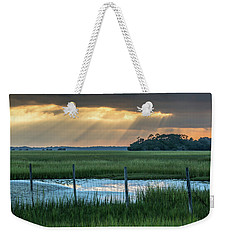 The Wire Fence -  Seabrook Island, Sc Weekender Tote Bag