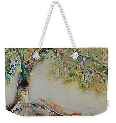 Weekender Tote Bag featuring the painting The Wisdom Tree by Joanne Smoley