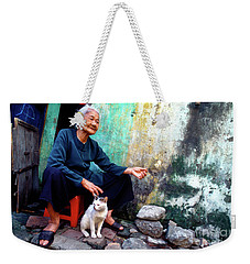 The Woman And The Cat Weekender Tote Bag