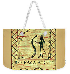 The Woman And The Serpent Weekender Tote Bag