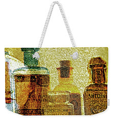 The Woman Behind Weekender Tote Bag by Michael Cinnamond