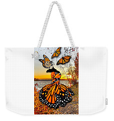 Weekender Tote Bag featuring the mixed media The Wonder Of You by Marvin Blaine