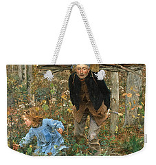 The Wood Gatherer Weekender Tote Bag