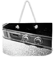 Weekender Tote Bag featuring the photograph The Work Phone by Robert Knight