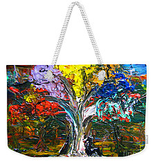 The World Moves For Love By Colleen Ranney Weekender Tote Bag