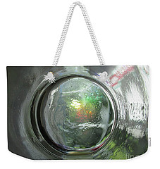 The World Through The Bottom Of A Glass Weekender Tote Bag