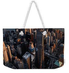 The World Trade  Weekender Tote Bag by Anthony Fields