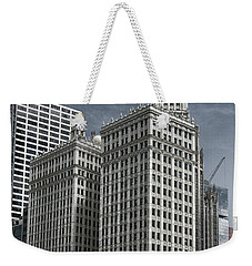 Weekender Tote Bag featuring the photograph The Wrigley Building by Alan Toepfer