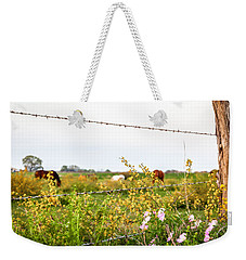 Weekender Tote Bag featuring the photograph The Wrong Side Of The Fence by Melinda Ledsome