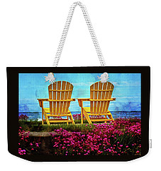 The Yellow Chairs By The Sea Weekender Tote Bag by Thom Zehrfeld