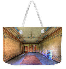 Weekender Tote Bag featuring the photograph The Yellow Room Of The Villa With The Colored Rooms by Enrico Pelos