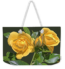 Weekender Tote Bag featuring the digital art The Yellow Rose Family by Daniel Hebard