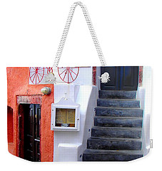 Weekender Tote Bag featuring the photograph The Yellow Scarf by Ana Maria Edulescu