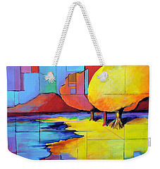 The Yellow Tree Weekender Tote Bag by Jodie Marie Anne Richardson Traugott          aka jm-ART