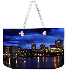 Thea Foss Waterway Storm Brewing Weekender Tote Bag