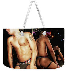 Weekender Tote Bag featuring the photograph Thee Infamous J. At One Of His Go Go by Mr Photojimsf