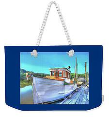 Thee Old Dragger Boat Weekender Tote Bag by Thom Zehrfeld