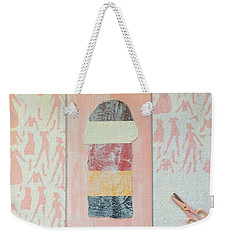 Weekender Tote Bag featuring the painting Them by Erika Chamberlin
