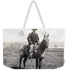 Theodore Roosevelt Horseback - C 1903 Weekender Tote Bag by International  Images