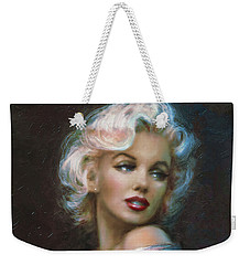 Theo's Marilyn Ww Blue Weekender Tote Bag