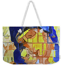 Weekender Tote Bag featuring the painting Theotokos by Sandy McIntire