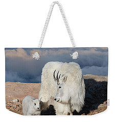 Above The Clouds Weekender Tote Bag