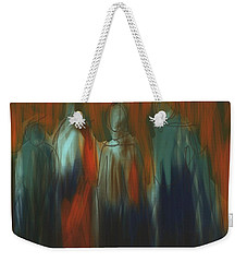 Weekender Tote Bag featuring the painting There Were Four by Jim Vance