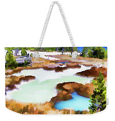 Thermal Pools, West Thumb Ynp Weekender Tote Bag by Greg Sigrist