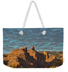 Weekender Tote Bag featuring the photograph Thimble Peak During Golden Hour by Dan McManus