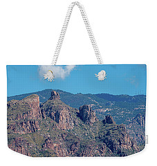 Weekender Tote Bag featuring the photograph Thimble Peak With Summer Greenery by Dan McManus