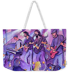 Weekender Tote Bag featuring the painting Thin Air At The Barkley Ballroom In Frisco, Colorado by David Sockrider