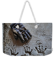 Weekender Tote Bag featuring the photograph Things Left Behind by Susan Capuano