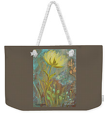 Weekender Tote Bag featuring the painting Think On Good Things by Robin Maria Pedrero